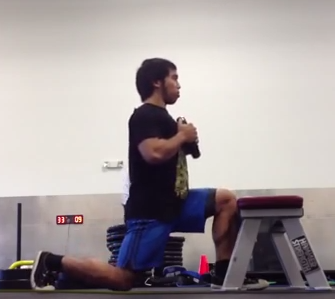 Goblet Split Squat - Anterior Knee Block