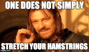One Does Not Simply Stretch Your Hamstrings